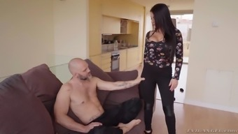 Sexy Bianka Ivory likes to jump throughout the dick while her big titties bounce