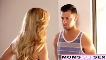 MomsTeachSex - Sizzling This type of fitness Step Mom Fucks Move Youngster And Teen GF