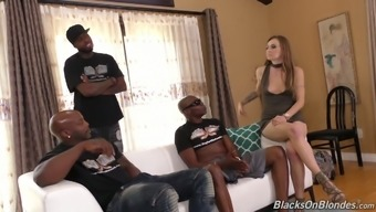 Polish light girl Natasha Starr is fucked by a number of transcend fellas