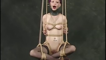 Inez gets taken out via the nipples and vocab in BDSM video