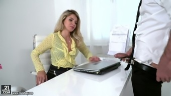 Really perverted blonde counter Mary Kalisy is for that reason into several workplace sex