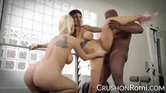 Romi Rain and Kenzie Taylor exchange on a BBC