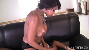 Extraordinary lesbian Havana Ginger use a strapon to please her girl