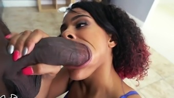 BANGBROS - Young Black Babe Dani Dolce Gets Fucked In Gym Locker Room By Towel Boy