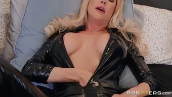 Stepmom&#039s latex dress makes her son hard