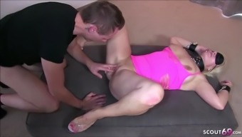 Blindfolded wife suprised with huge black cock by husband