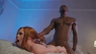 Big ass milf works a huge monster cock in her pussy