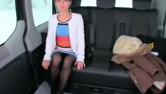 LETSDOEIT - Hot Ukrainian Milf Fucks Hard In The Backseat Of a Czech Taxi