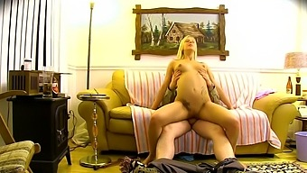 Amateur fucking in the living room with an older guy and Christine Sucre
