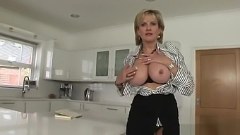 Adulterous uk milf lady sonia flashes her enormous tits