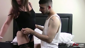 Mature lady got naked and than got her wet hole drilled really hard
