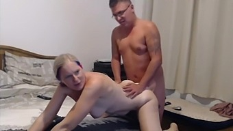 Milf sucks and gets fucked by step son friend makes him cum loads