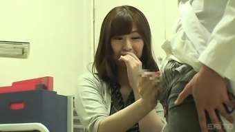 Innocent Japanese people girl is hot and her physician manages to attract her