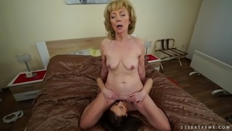 twisted euro granny szuzanne take pleasure in katy rose's glorious pussy