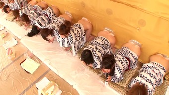 A natural environment Japanese reality tell with a lot of hot, exposed babes