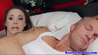 Housewife assfucked using a brunette intruder