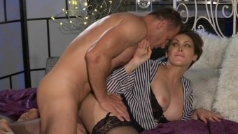 Mother Place of work female in stockings likes rock hard cock deep-down her