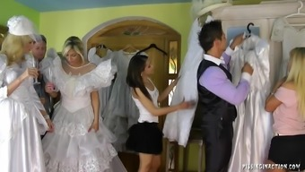 Notably attractive future bride succumbs to intense fucking with the dressing room on her marriage ceremony morning