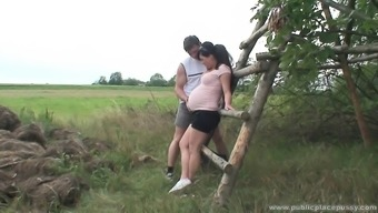 Beautiful pregnant krown is perverted as hell and demands to fuck outside