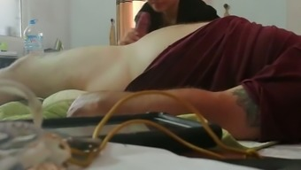 This mature Oriental prostitute loves touching cock and she or he is so unashamed