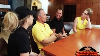 Niki Snowstorm, Zoey Monroe Switching Common sugar Fathers
