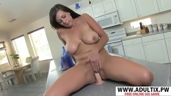 Acrobatic mother in law tori dean gives titjob hard tender son