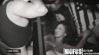 Mofos - Threesome with the use of Alina LI is wedged on video camera