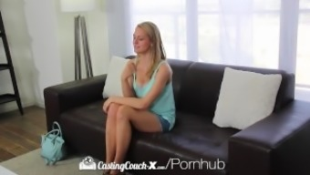 CastingCouch-X - Amateur Alli Rae inquires of to produce a untidy facial